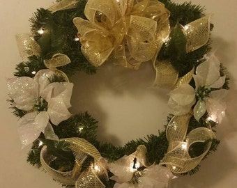 Light Up Your Home with a Holiday/Christmas Wreath