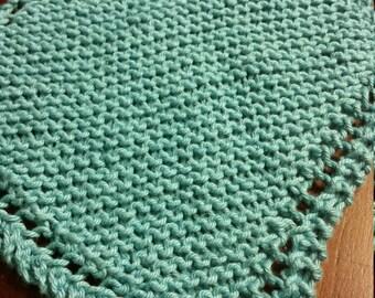 Handmade cotton dishcloths - set of 3