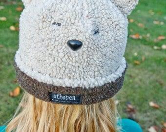 Kids or Adult Fleece Reversible Bear Hat