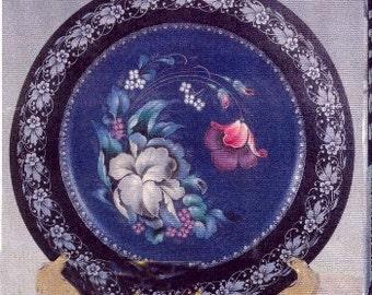 Russian Zostova Style Floral Plate