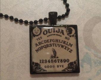 Ouija Board Necklace Resin Pendant
