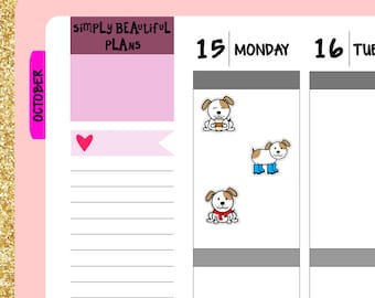 Fall Doggie Doo  - Planner Stickers