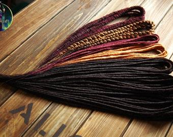 Set of classic synthetic double ended dreads dreads DE dreadlocks full set custom made