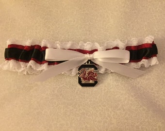 University of South Carolina wedding garter