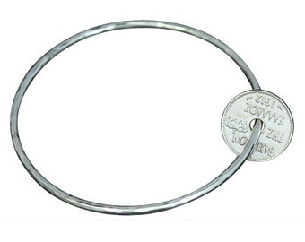 Greek Coin Charm Bangle