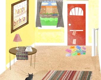 Birthday Cat Card