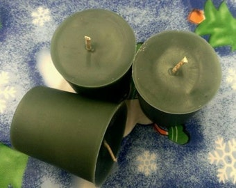 3 Oak Moss Scented Soy Votive Candles
