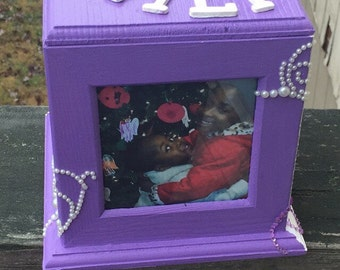 Customized Decorated Memory Box for Him or Her (4x4)