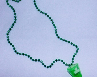 St. Patrick's Day Shot Glass Necklaces