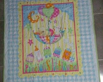 Precious Little One quilt/blanket, baby quilt, baby blanket, nursery blanket, blue quilt