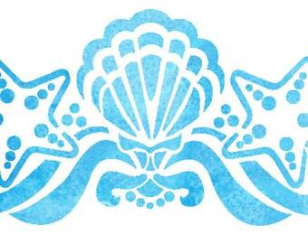 Seashell Design Stencil