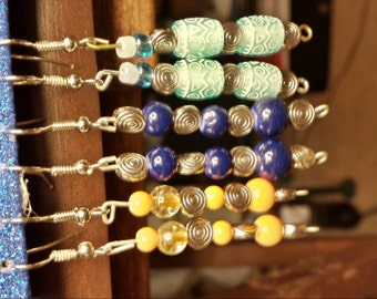 Handmade from our Rain Dance Line...3 pairs for 15 bucks...The more you bundle....the more the rocks tumble...