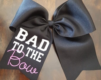 Personalized sassy cheer bow
