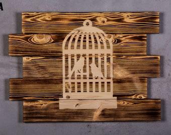 bird cage Wood Sign boyfriend gift bird cage veil bird cage card holder bird cage decor bird cage centerpiece bird cage cover 125A