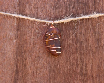 Handmade Brown Sea Glass Pendant