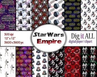 star wars inspired digital paper empire print paper dark side digital download space paper night sky background universe pattern