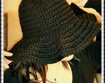 crochet circular winter HAT
