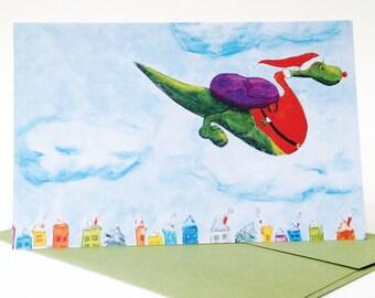 Dino Holiday Card (7 x 5)