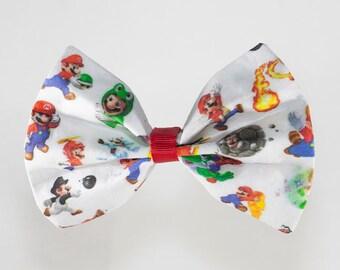 Super Mario hair bow / bow tie