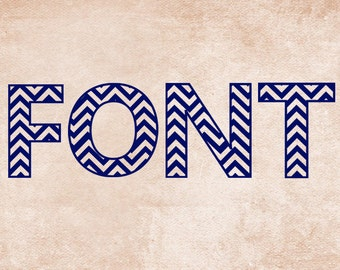 Chevron Font Cutting Files in Svg, Eps, Dxf, and Studio3 for Cricut & Silhouette