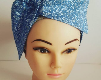 Blue Vine Pin Up Hair Tie