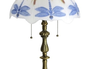 MOSSER GLASS Blue Dragonfly Lamp