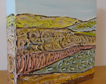 Landscape 'Meadows' acrylic painting, original art