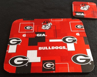 Georgia Bulldogs Mouse Pad and Coaster set