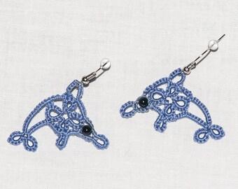 Al 2016 summer tatting Dolphin earrings
