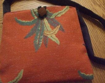 shoulder bag handmade cloth purse with inside pockets