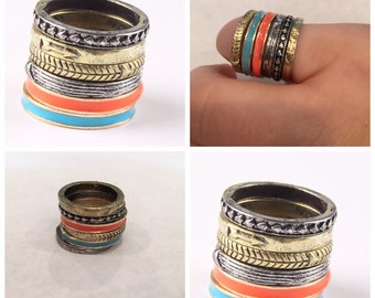Stacking Rings- 6 piece set-arrow