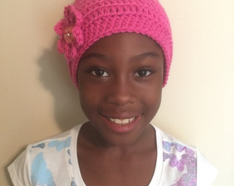 Children's Frizz Free Protective Lined Beanie Hat - Great for Natural Hair!