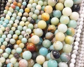 "6MM, 8MM,10MM & 12MM Amazonite Beads - 15"" Strand,8MM Amazonite Beads,Amazonite Round Beads,12MM Amazonite Round Beads,Amazonite Beads Round"