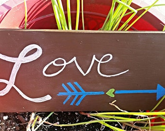 LOVE Home Decor Handpainted Wood Sign