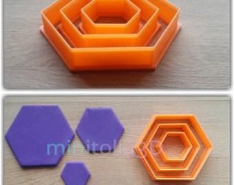Hexagon Cookie Cutter Set