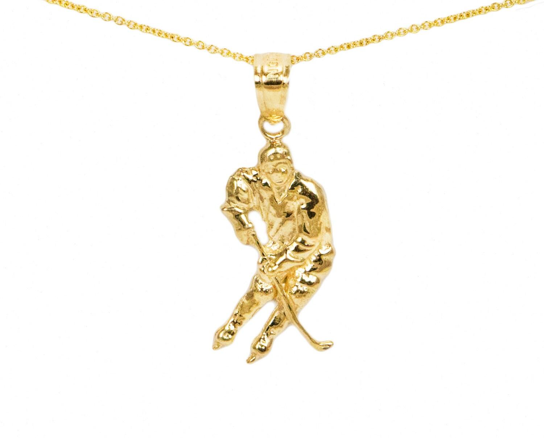 10k gold hockey charms for charm bracelet 10k gold hockey