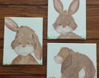 Woodland bunny nursery wall art