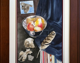 Original Watercolor Still Life Painting