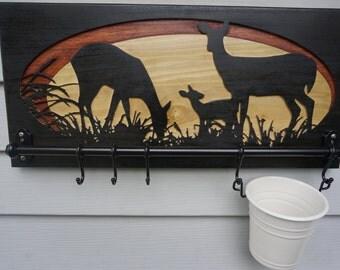 Deer Grazing in Meadow