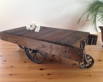 Authentic vintage industial cart