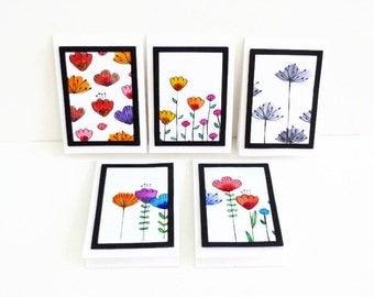 Stationary Set, Thank You Cards, Birthday Cards, Ready To Ship, Trending Watercolor Card Set, Paper and Party Supplies