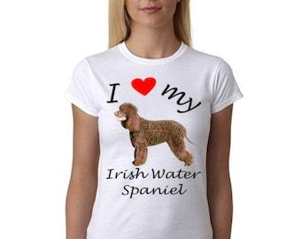 Irish Water Spaniel shirt - Picture of Irish Water Spaniel dog on shirt
