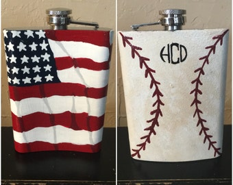 Hand painted 8oz Flask *MADE TO ORDER*