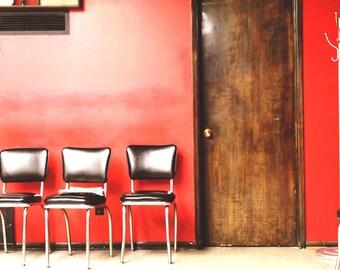 Empty Barber Shop
