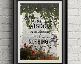 Quote dictionary vintage print