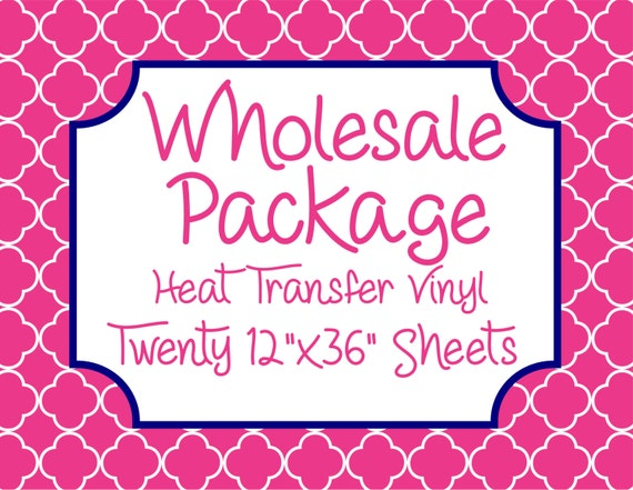 "Wholesale Package for Twenty 12""x 36"" Heat Transfer Vinyl Sheets // Beautiful, Vibrant Patterns"