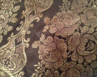 Vintage brocade and velvet table runner