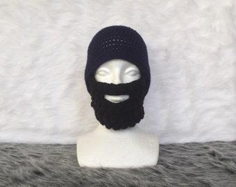Crochet beard with beanie