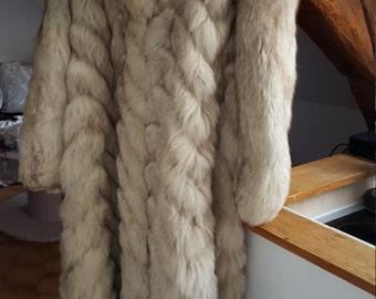 Fur white Fox - White fox fur coat