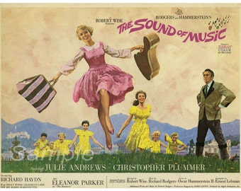 Vintage The Sound of Music Movie Poster Print